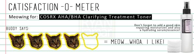 Catisfaction-o-meter (4x COSRX AHA BHA Clarifying Treatment Toner)