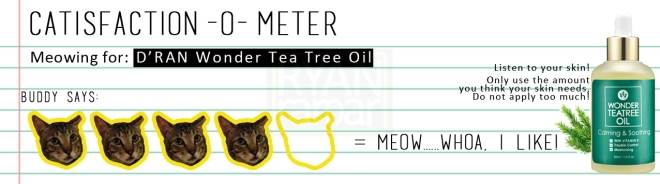 Catisfaction-o-meter (4x D'RAN Wonder Tea Tree Oil)