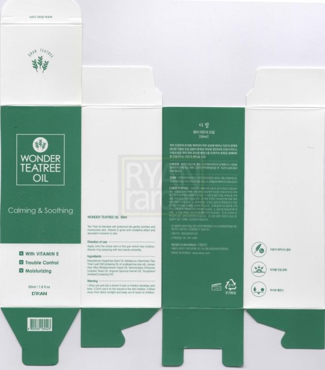 (The packaging box that houses the Wonder Tea Tree Oil that i purchased)