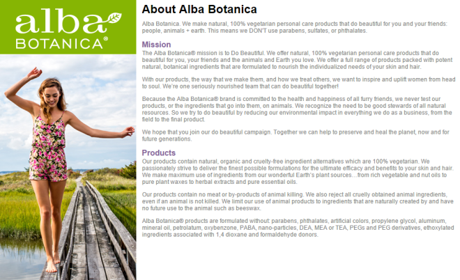 Credit: Alba Botanica website