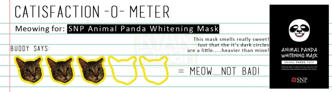 Catisfaction-o-meter (3x SNP Animal Panda Whitening Mask)