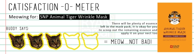 Catisfaction-o-meter (3x SNP Animal Tiger Wrinkle Mask)