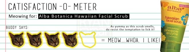 Catisfaction-o-meter (4x Alba Botanica Hawaiian Facial Scrub)