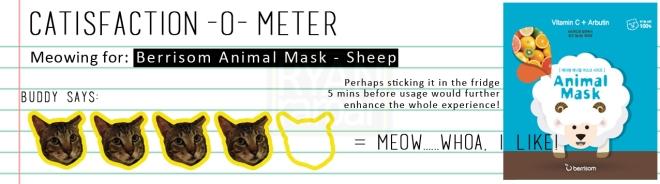 Catisfaction-o-meter (4x Berrisom Animal Mask Sheep)