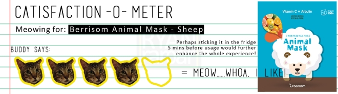 Catisfaction-o-meter (4x Berrisom Animal Mask Sheep)
