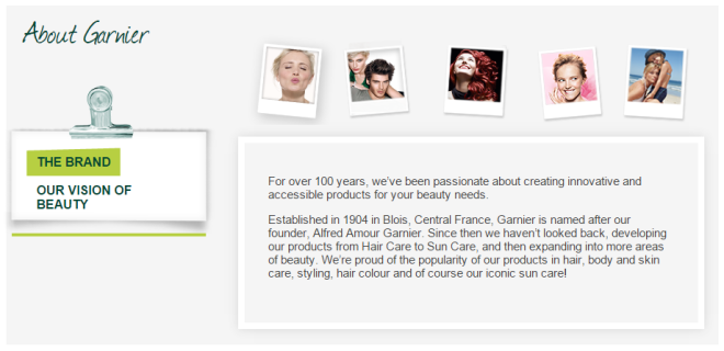 Credit: Garnier UK website