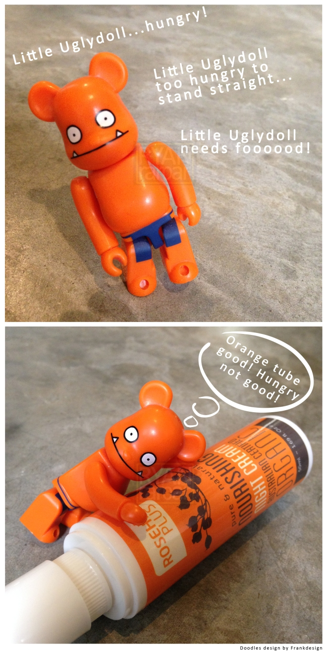 (Yes yes, orange is really a happy happy color - Little Uglydoll approves!)