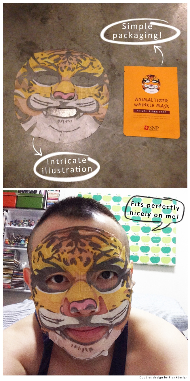 SNP Animal Tiger Face Mask (Packaging)