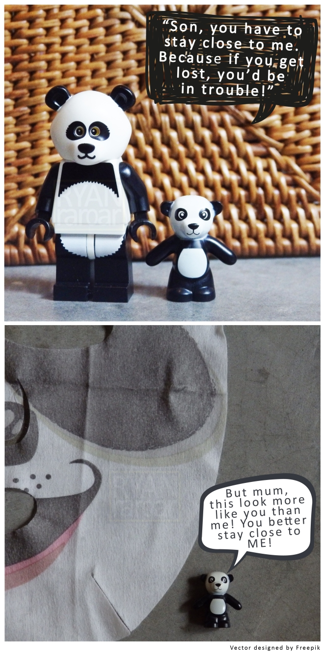 (A cautionary tale Mama Panda is telling Little Panda; I get that a lot too!)