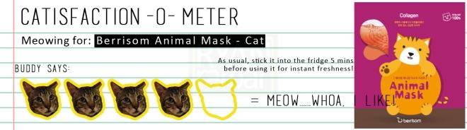 Catisfaction-o-meter (4x Berrisom Animal Mask Cat)