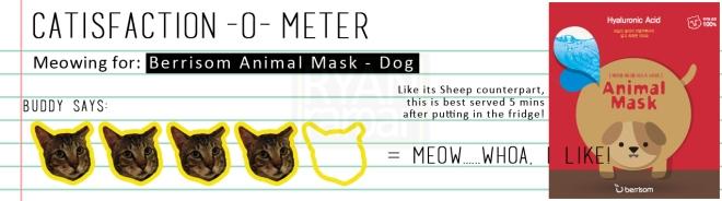 Catisfaction-o-meter (4x Berrisom Animal Mask Dog)