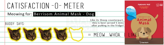 Catisfaction-o-meter (4x Berrisom Animal Mask Dog)
