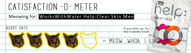 Catisfaction-o-meter (4x WorksWithWater Help Clear Skin Men)