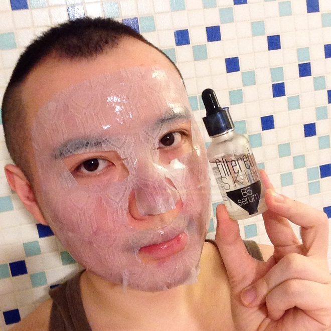 (This is one of my favorite ways of using the B5 Serum - as a pre-mask booster!)