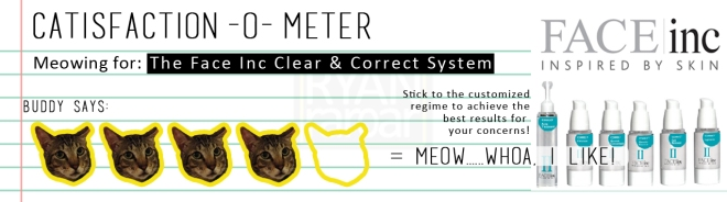 Catisfaction-o-meter (4x The Face Inc Clear & Correct System)