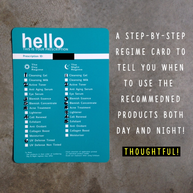(When the parcel arrives, this card will be included to let you know the steps to apply the products)