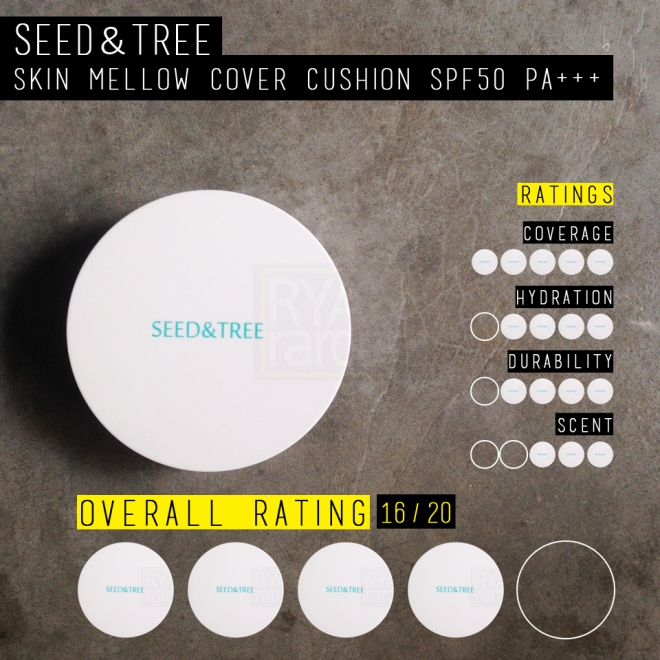 (My little rating scale for SEED & TREE Skin Mellow Cover Cushion; overall 4/5)