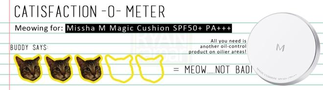 Catisfaction-o-meter (3x Missha M Magic Cushion SPF50+ PA+++)