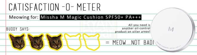 Catisfaction-o-meter (3x Missha M Magic Cushion SPF50+ PA+++)