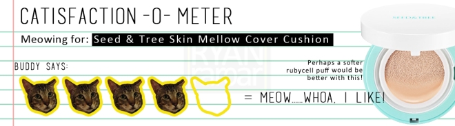 Catisfaction-o-meter (4x Seed & Tree Skin Mellow Cover Cushion)