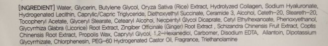 (Ingredient recipe of the Skull sheet mask; click to enlarge)