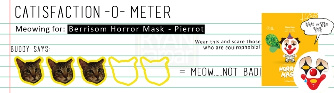 Catisfaction-o-meter (3x Berrisom Horror Mask - Pierrot)