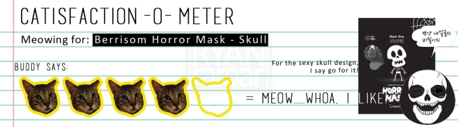 Catisfaction-o-meter (4x Berrisom Horror Mask - Skull)