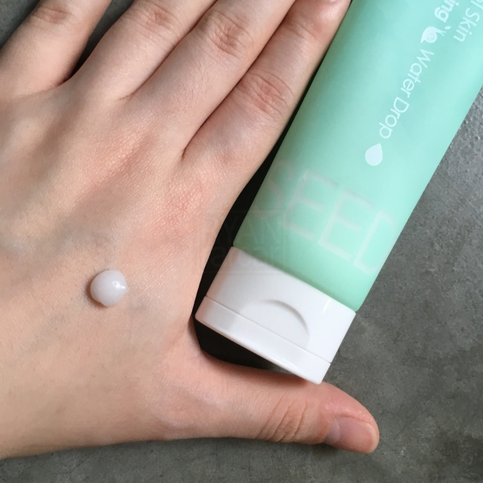 (Here I am testing a blob of moisturizer on the back of my hand)