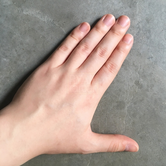 (The back of my left hand)