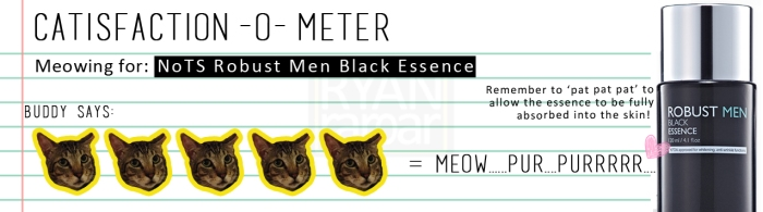 Catisfaction-o-meter (5x NOTS Robust Men Black Essence)