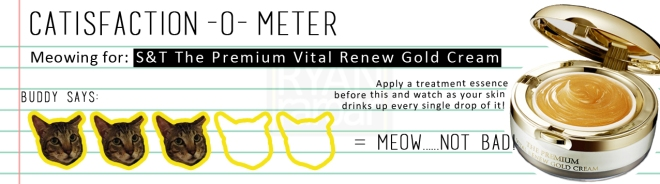 Catisfaction-o-meter (3x Seed & Tree The Premium Vital Renew Gold Cream)