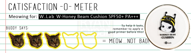 Catisfaction-o-meter (3x W.Lab W-Honey Beam Cuhsion)
