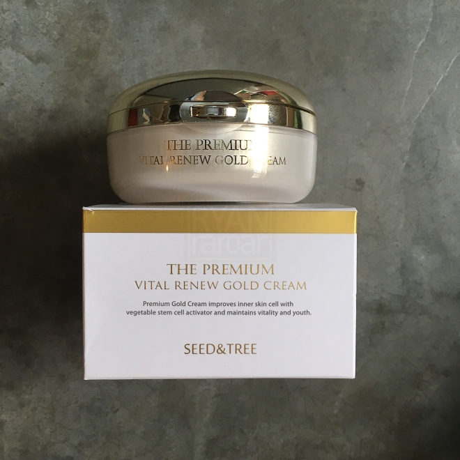 Seed & Tree The Premium Vital Renew Gold Cream 01