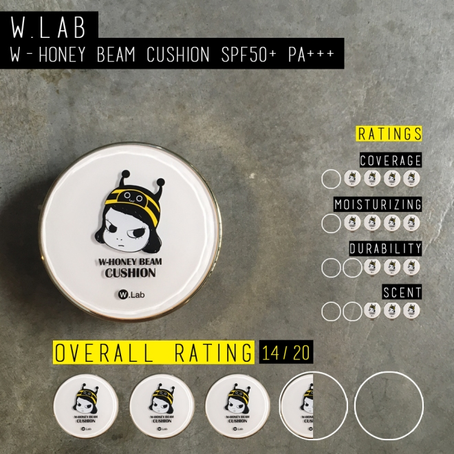 (My little rating scale for W.Lab W-Honey Beam Cushion; overall 3.5/5)