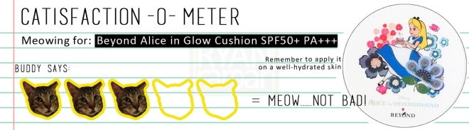 Catisfaction-o-meter (3x Beyond Alice in Glow Cushion SPF50+ PA+++)