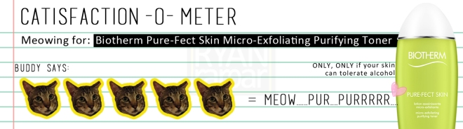 Catisfaction-o-meter (5x Biotherm Pure-Fect Skin Micro-Exfoliating Purifying Toner)
