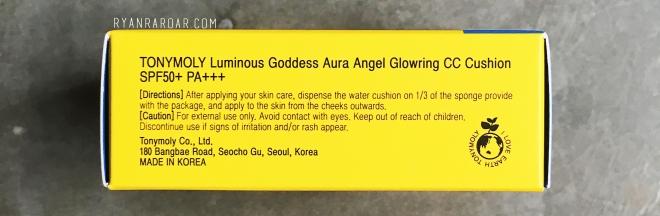 Tonymoly x Mighty Atom Luminous Goddess Aura Angel Glowring CC Cushion 09