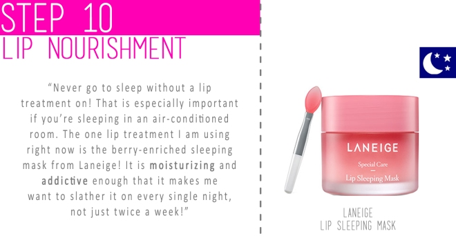 Step 10 - Lip nourishment