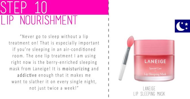 Step 10 - Lip nourishment