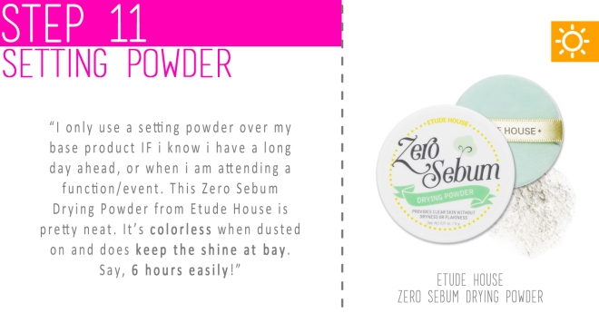 Step 11 - Setting powder