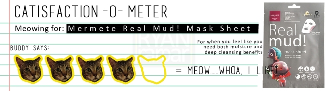 Catisfaction-o-meter (4x Mermete Real Mud! Mask Sheet)
