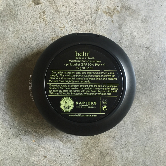 Belif Moisture Bomb Cushion 08