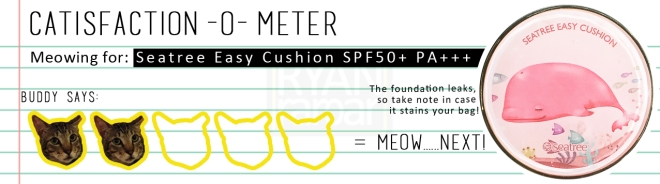 Catisfaction-o-meter (2x Seatree Easy Cushion SPF50+ PA+++)