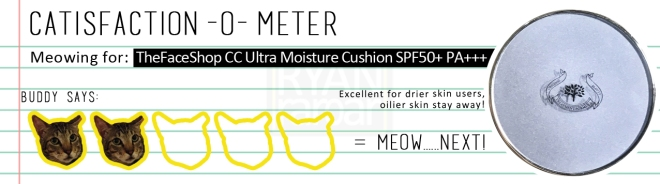 Catisfaction-o-meter (3x TheFaceShop CC Ultra Moisture Cushion)