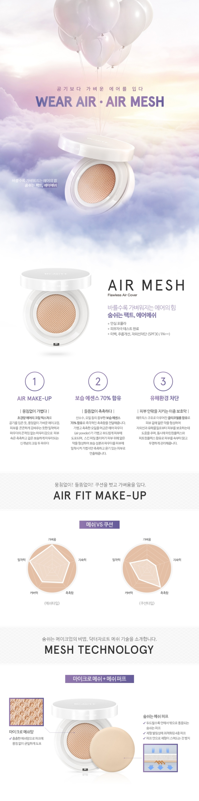 Dr. Jart+ Air Mesh BB Cushion (Info - Kr)