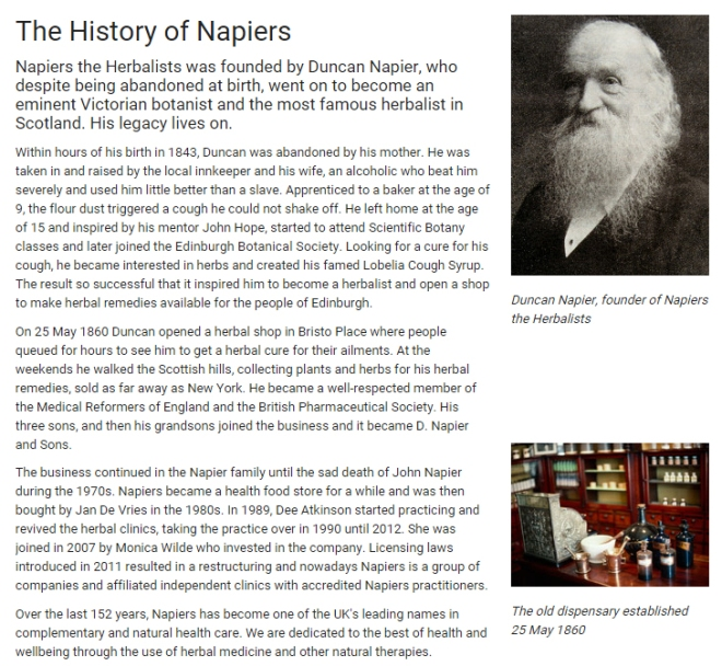 History of Napiers