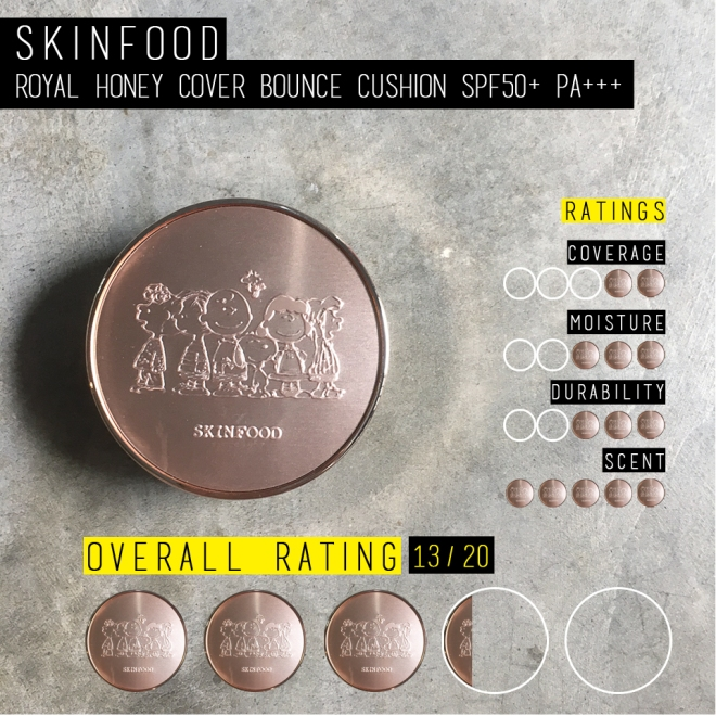 Skinfood Royal Honey Cover Bounce Cushion SPF50+ PA+++ (Rating)