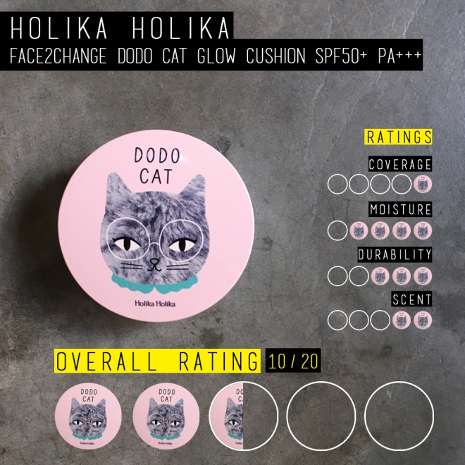 Holika Holika Face2Change Dodo Cat Glow Cushion (Rating)