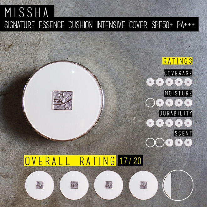 Missha Signature Essence Cushion Intensive Cover (Rating)