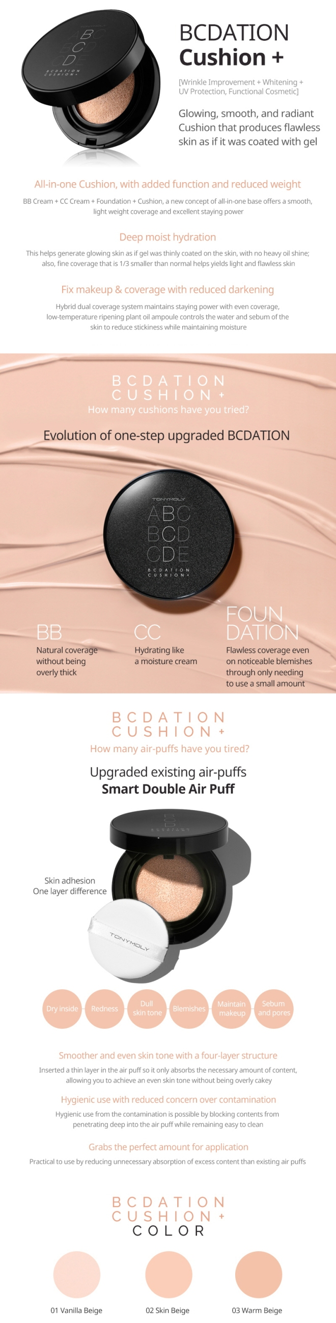 Tonymoly BCDation Cushion+ (Info Eng)